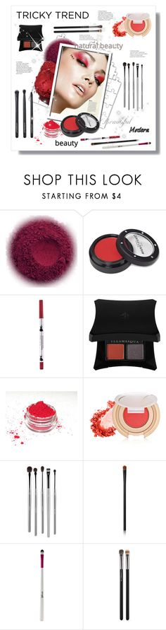 """""""Tricky Trend: Red Eye Makeup"""" by stranjakivana ❤ liked on Polyvore featuring beauty, Manic Panic NYC, Illamasqua, Jane Iredale, esum, NARS Cosmetics, Barry M, MAC Cosmetics, Japonesque and makeup"""