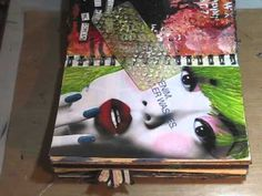 Watch the Process - Days Float Through My Eyes - altering an ad from a magazine