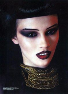 gothic hair styles and makeup | gothic makeup turkish vogue 2011 jacquelyn jablonski givenchy gothic ...