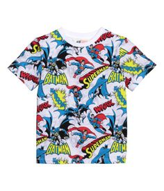 T-shirt in printed cotton jersey.
