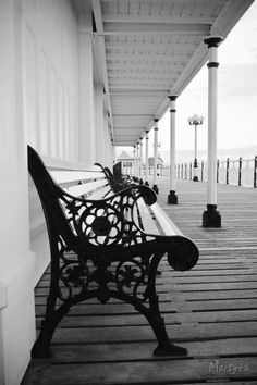 The benches at Brighton pier where Matthew and Jake sat waiting for their mother / image: Paul Munkenbeck Brighton Rock, Brighton And Hove, Brighton Sussex, Brighton England, England Uk, Great Places, Places To Go, Beautiful Places, Brighton Photography