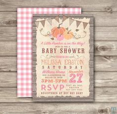 188 best fall baby shower images on pinterest baby shower fall pumpkin baby baby shower rustic fall invitations theme pink its a girl wood farm burlap our filmwisefo