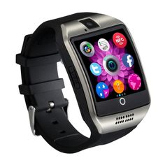 Generic Original Q18 with Camera TF/SIM Card Slot Bluetooth Smartwatch Smart Phone for Android and IOS Silver. Appearance vogue, extreme thin. HD display,High sensitive capacitive touch screen;Precision laminating process. Primary drawing stainless steel surface, prevent sweat and hard surface processing, new more. variety colors, variety of mood; variety of UI theme, show different styles. Ultrasonic sound cavity closed aluminum film, listen to the sounds of nature.