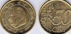 Belgian 50 (Fifty) Euro Cent 50c Coins Belgium European
