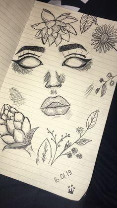 # drawings # sketch # sketchbook # pencil # black # eyes - New Sites Dark Art Drawings, Pencil Art Drawings, Easy Drawings, Cool Simple Drawings, Drawings Of Eyes, Pencil Drawing Tutorials, Flower Drawings, Girl Drawing Sketches, Art Drawings Sketches
