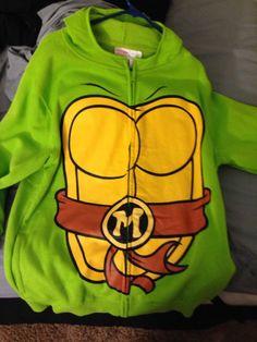 Teenage Mutant Ninja Turtle Hoodie Hoody NWOT TMNT Shirt Mint Mens Large L