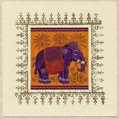 beautiful art print on Etsy  http://www.etsy.com/listing/8479142/indian-elephant-art-print-set-of-2