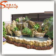 Tabletop Water Fountain, Garden Water Fountains, Water Garden, Backyard Water Feature, Ponds Backyard, Fish Pond Gardens, Garden Wall Designs, Outdoor Gardens, Indoor Garden