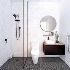 Bathroom envy I so want this to be mine, #bathroom #inspiration #blackbathroom #decor