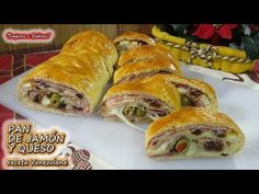 PAN DE JAMÓN Y QUESO PARA NAVIDAD receta Venezolana delicioso - YouTube Pan Relleno, Sweet Kisses, Pan Dulce, Sin Gluten, Risotto, Sandwiches, Appetizers, Thanksgiving, Dishes