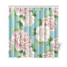 Pink Peonies Vintage Japanese Floral Kimono Shower Curtain 69