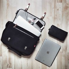 "I've just found my new travel and school companion: the Fitzroy Satchel bag from my friends @toffeecases The 15 inch version fits both the MacBook Pro 15"" and the iPad Pro 13"" in a stylish way.  #bag #flatlay #backtoschool #picoftheday #photooftheday"