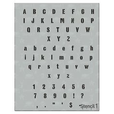 This Industrial Font stencil is great for adding letters to your art projects monogramming clothing or creating signs and posters. Our letter stencils are also great for school projects. Industrial Font - Letter Stencil x Gray Graffiti Lettering, Hand Lettering, Typography, Industrial Font, Kids Craft Sets, Morse Code Words, Old English Font, Alphabet Stencils, Alphabet Symbols