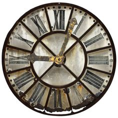 1STDIBS.COM - Bliss Home & Design - French Tower Clock Face ❤ liked on Polyvore