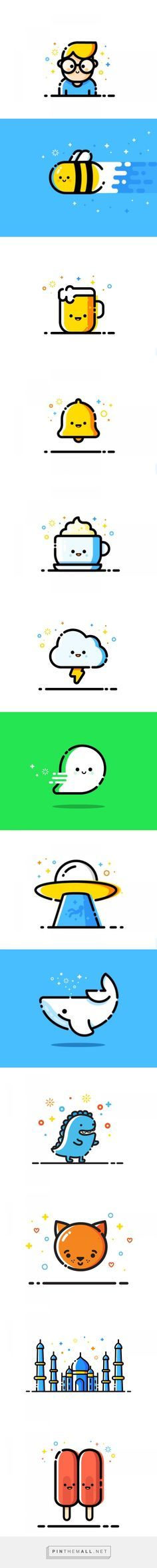 Dribbble Trend- MBE Styled -Design Inspiration — Icons... - a grouped images…