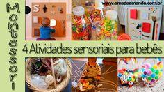 Amada Amanda: 4 Atividades sensoriais para bebês