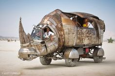 Just a car guy : images of Burning Man vehicles, by Scott London, who has incredible photo galleries of the past ten Burning Man events, vehicles, topless women, and the rest