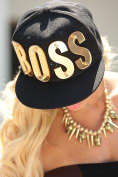 a7b053a0550 BLACK GOLD BOSS LOGO SNAPBACK HAT  24.99 Snapbacks are in right now! Sexy  boss logo