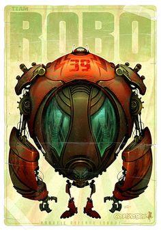 Robots by CreatureBox , via Behance