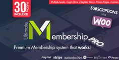 Ultimate Membership Pro WordPress Plugin v5.7is the well known and the best Membership WordPress Plugin that allow you to create and work with multi-level exclusive access for your Users based on simple Free packages or Payed packages.  Ultimate Membership Pro v5.7 Free...