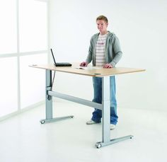 Sit Stand Electronic Height Adjustable Desk | Conset 501-17