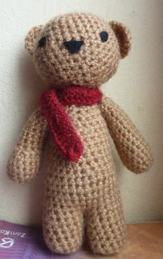 10 FREE Teddy Bear Crochet Patterns: Classic Crochet Teddy Bear Free Pattern