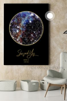 Custom Star Map - Constellation Map Wall Art - Gift from Grandkids, Gift for Grandpa, Christmas Gift, Art Print, Birthday Gift for Grandpa, Personalized Gift for Him Grandpa Birthday Gifts, Grandpa Gifts, Constellation Map, Constellations, New Home Gifts, Gifts For Wife, Map Wall Art, Wall Art Prints, Spiritual Decor