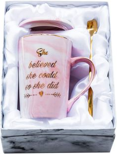 Mugpie She Believed She Could So She Did Coffee Mug - Congratulations Graduation Gifts for Women Girl Daughter Colleg.