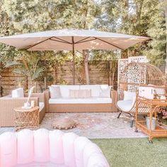 Trendy Area Rugs | Quality Area Rugs Online | Boutique Rugs Backyard Patio Designs, Diy Patio, Patio Ideas, Large Patio Umbrellas, Outdoor Spaces, Outdoor Decor, Outdoor Seating, Outdoor Living, Zen