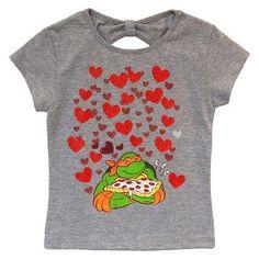 0679e8c1952 Toddler Girl s Teenage Mutant Ninja Turtles Michelangelo T-Shirt - Heather  Grey Teenage Mutant Ninja
