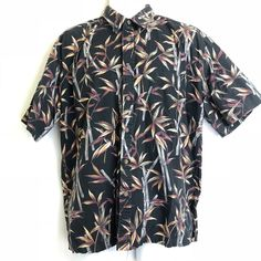 2d339566 cooke street honolulu Hawaiian bamboo shirt size XL black brown button  front | eBay. Black And BrownHawaiianBambooMen Casual