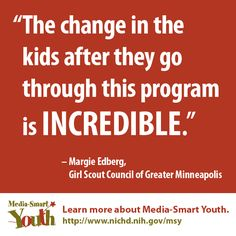 Free health education program for kids ages 11-13, from the National Institutes of Health. #MediaSmartYouth