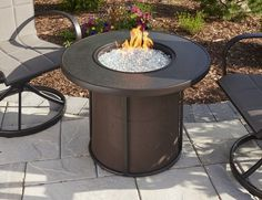 """SF-32-K STONEFIRE 32"""" FIRE PIT TABLE W/BURNER COVER & NF-16-RD BURNER"""