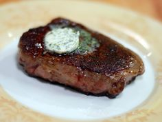 Cooking Channel serves up this Maitre d'Hotel Butter recipe from Laura Calder… Maitre D Butter, French Food At Home, Compound Butter, Food Network Canada, Marinated Steak, Herb Butter, Cook At Home, Butter Recipe, Other Recipes