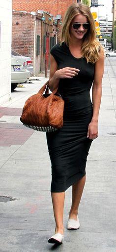 pastel blonde: Rosie Huntington-Whiteley street style