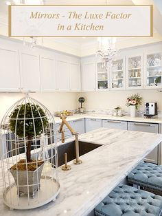 Mirrors - The Luxe Factor in a Kitchen | Gray kitchen | Kitchen Design | Classy Glam Living