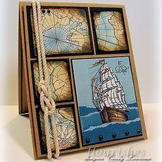 A Ship At Sea Card