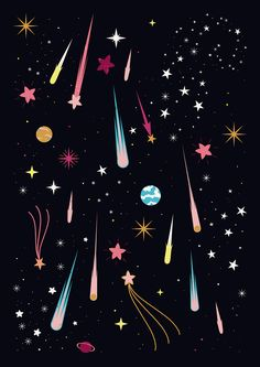 Carly Watts Illustration: Meteor Shower
