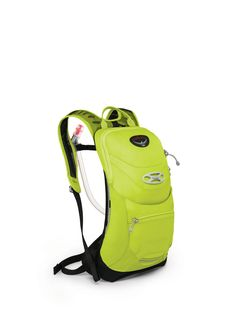 Osprey Packs Syncro 3 Hydration Pack, Velocity Green, Medium/Large. Osprey's lid lock easily and securely carries bicycle helmets. The blinker light attachment found near the base of the front panel of the pack allows for Quick light attachment for high visibility in the dark. A zippered top slash pocket lined with scratch free, heat embossed fabric proves ideal storage for Optics and electronic devices. We make every effort to color-correct our product photos so they match the actual…
