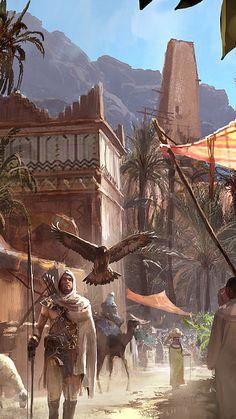 bayek of siwa Arte Assassins Creed, Assassins Creed Origins, Assassins Creed Odyssey, Asesins Creed, All Assassin's Creed, Fantasy Concept Art, Fantasy Artwork, Final Fantasy, Fantasy Places