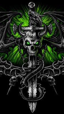 WALLPAPERS: 360x640 SKULL & DEATH