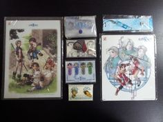 Suikoden II pins, bookmarks, poster and mouse pad, in addition to suikoden key chain