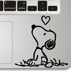 Vati Leaves Removable Snoopy Love Humor Handmade Partial Art Skin Cool Design Vinyl Decal Sticker for Trackpad Keypad Of Apple Macbook Pro Air Mac Laptop