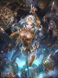 """Time Goddess - Advanced"" by 子君_zinna Du (zinnaDu)   Legend of the Cryptids   #Fantasy #DangerousWomen"