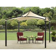 Outdoor Patio Gazebo Pavilion Garden Canopy Tent Sun Shade Shelter BBQ Parties for sale online Hot Tub Gazebo, Gazebo Canopy, Backyard Gazebo, Garden Gazebo, Pergola Patio, Canopies, Vinyl Pergola, Corner Pergola, Garden Canopy