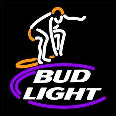 Bud Light Surfer Neon Beer Sign 16x16