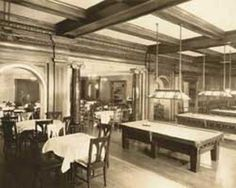 "Pendennis-club-grill, Gentlemen's Club in Louisville, Ky., where the Cocktail ""Old Fashion"" was invented by the Bartender at the club in the early 1880's  c.1928"