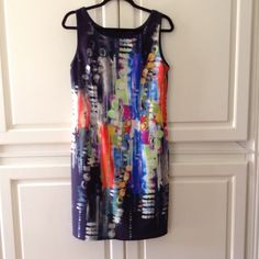 Water color dress. Worn one time. Beautiful colors! Dresses
