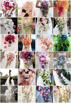 25 Cascade and Long Bridal Bouquets | Confetti Daydreams