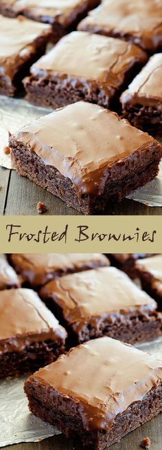 Best Frosted Brownies. #CompleteRecipes.com #recipe #recipes #food #foodgasm #cleaneating #healthyfood #healthy #healthyrecipes